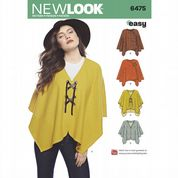 2bd2b40061e02a 6475 New Look Pattern  Misses  Easy Poncho and Cape .
